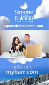 Primo Video Unboxing di Chiara Benvenuti e Valentino N. per Sapone Delle Dolomiti