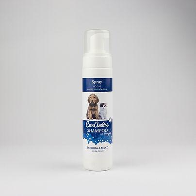 Shampoo schiuma a secco per cani e gatti