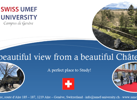 ANOTHER BEAUTIFUL DAY AT OUR CHÂTEAU D'AÏRE – SWISS UMEF UNIVERSITY (UMEF) CAMPUS IN GENEVA, SWISS