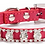 View of red rhinestone collar