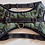 Full front view of padded military print padded dog harness