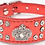 Front view of red crown rhinestone collar