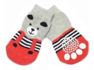 Front view of teddy bear socks