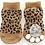 Sole view of leopard print socks
