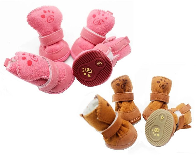 Poppy Suede Dog Boots for Small Dogs