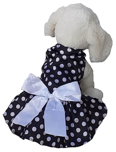 Back view of dress on dog