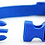 View of adjustable nylon collar closure