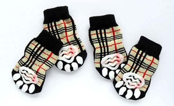 Back view of tartan socks
