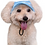 View of hat on dog