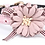 Front view of pink flower collar