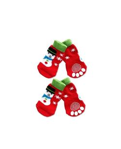 Snowman Socks for Dogs