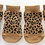 Front view of leopard print socks
