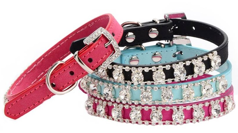 Full view of all colours of collars