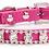 View of pink rhinestone collar