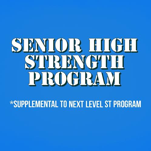Senior High Strength Program