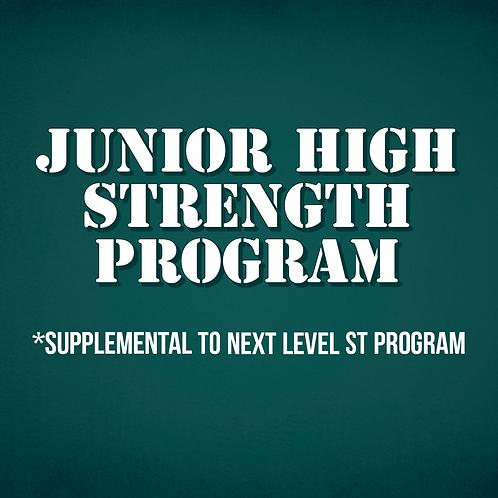 Junior High Strength Program