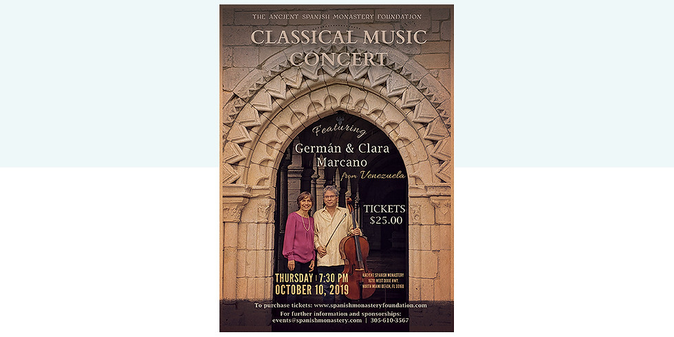 Classical Music Concert featuring German & Clara Marcano