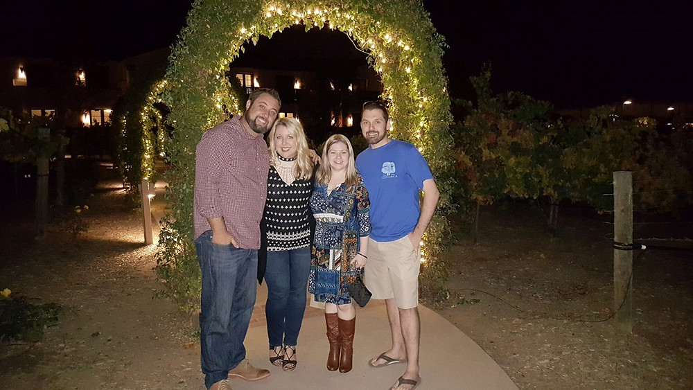 Mike Biondo and wife Jessica celebrating the new homeowners at Ponte Vineyards in Temecula.