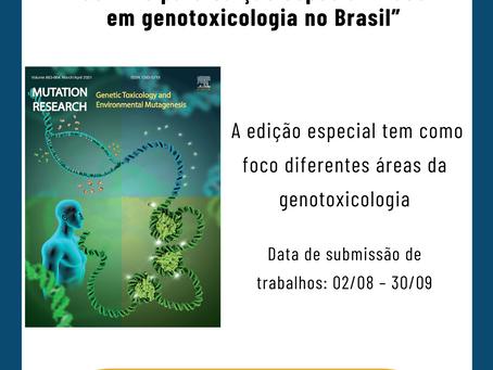 """Convite para edição especial """"Foco em genotoxicologia no Brasil"""""""