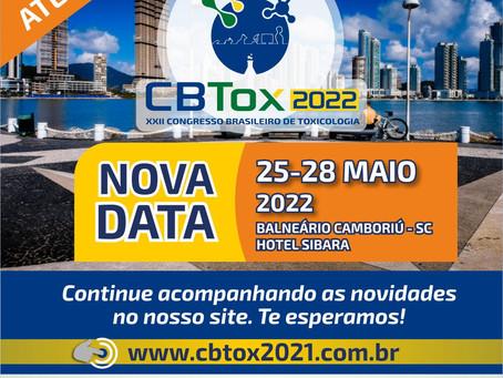 Nova data - Congresso Brasileiro de Toxicologia (CBTox) 2022