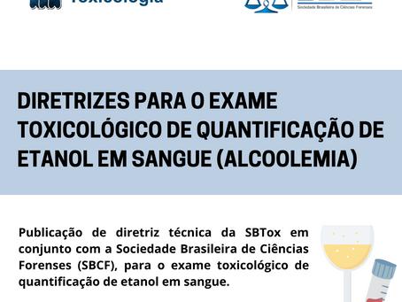 SBTox publica diretrizes para a análise toxicológica de quantificação de etanol em sangue