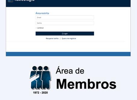 Login e área dos membros está disponível no site da SBTOX