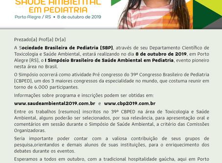 1.º Simpósio Brasileiro de Saúde Ambiental em Pediatria