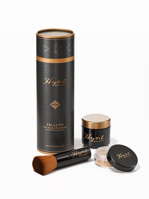 Velluto Pure Powder Foundation Full Size In BlackTube 'Light Beige'