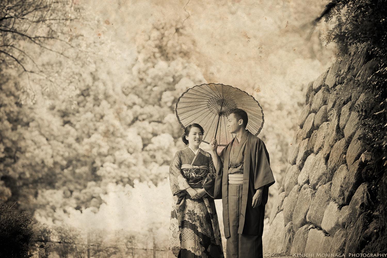 Kimono pre wedding in Fukuoka Japan.