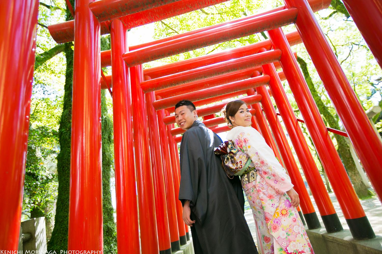Torii gate way to Shrine.