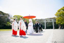 護国神社 福岡結婚写真 結婚撮影 出張撮影 前撮りロケーションフォトー