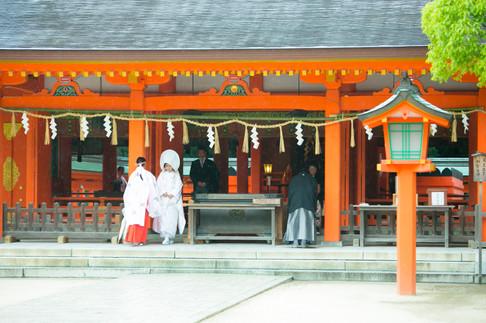 住吉神社 ウイズザスタイル 福岡結婚写真 ブライダルカメラマン森永健一