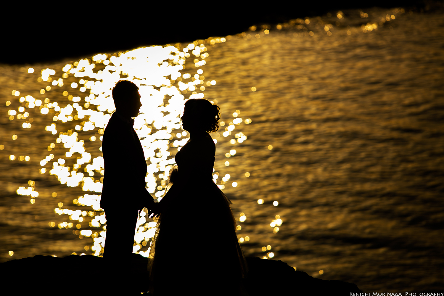 pre wedding photo with sunset in Fuk