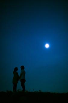 平尾台 夕焼け 夜景 福岡