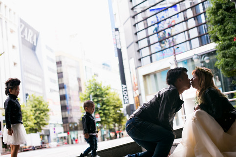 結婚記念日 前撮りロケーションフォト 家族写真 ファミリーフォト モリケン 森永健一 出張撮影 東京