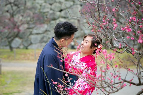 舞鶴公園 福岡 結婚写真 結婚撮影 出張撮影 前撮りロケーションフォト ブライダルカメラマン 森永健一