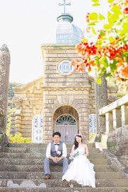 頭ケ島教会 丸尾教会 蛤浜海水浴場 中通島 上五島 結婚写真 結婚撮影 出張撮影 前撮りロケーションフォト ブライダルカメラマン 森永健一