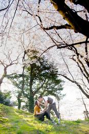 舞鶴公園 桜 福岡 福岡結婚写真 前撮りロケーションフォト デートフォト エンゲージメントフォト pre-wedding fukuoka sakura ブライダルカメラマン森永健一 from Hong Kong
