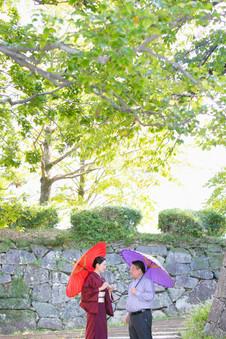 旧福岡県公会堂貴賓館 舞鶴公園 夕焼け 結婚写真 結婚撮影 出張撮影 前撮りロケーションフォト ブライダルカメラマン 森永健一