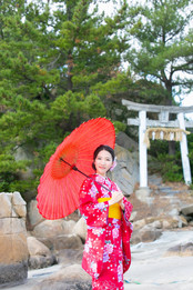 箱島神社 トトロの森 糸島 福岡 結婚写真 結婚撮影 出張撮影 前撮りロケーションフォト ブライダルカメラマン 森永健一
