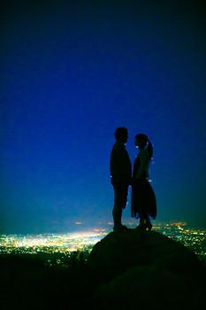 平尾台 夕焼け 夜景 北九州 福岡