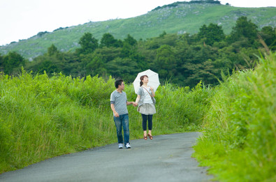平尾台 夕焼け 北九州