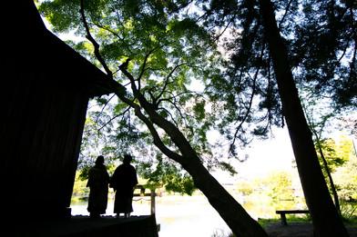 金鱗湖 由布院 由布岳 大分