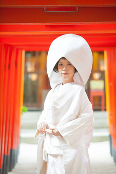 櫛田神社 観山荘 福岡結婚写真 ブライダルカメラマン森永健一