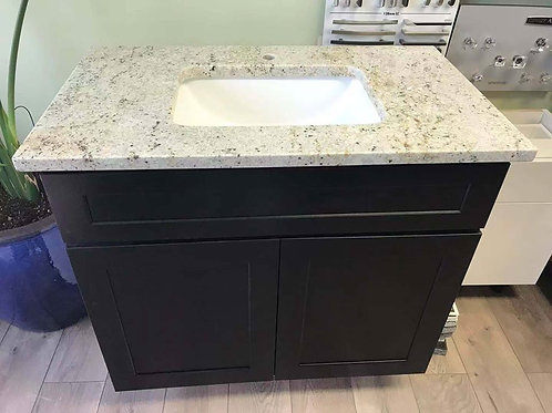 SHAKER VANITY SINK BASE 36 INCHES WIDE