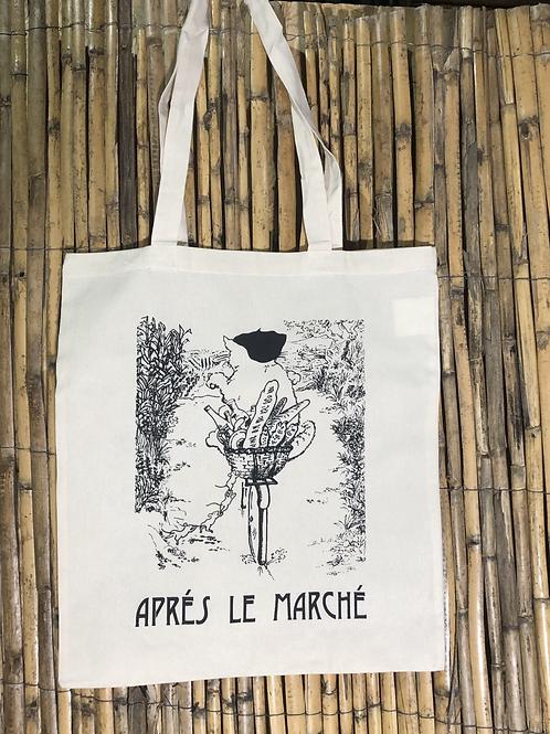 Shopping Bag 'Après le Marché' by local Artist Diana White