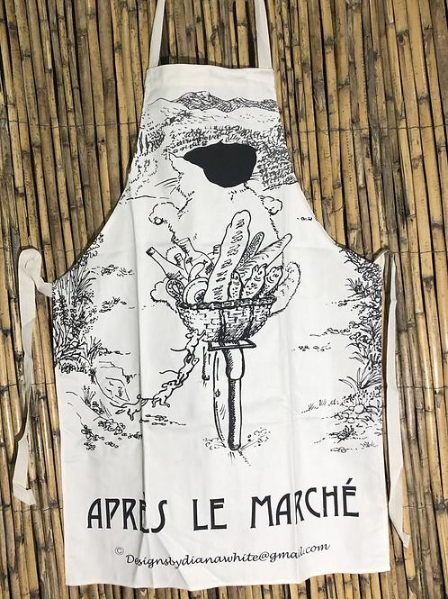 APRON 'Après le Marché4 by local artist Diana White