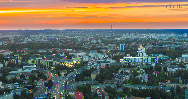 Центр Калининграда. Закат.