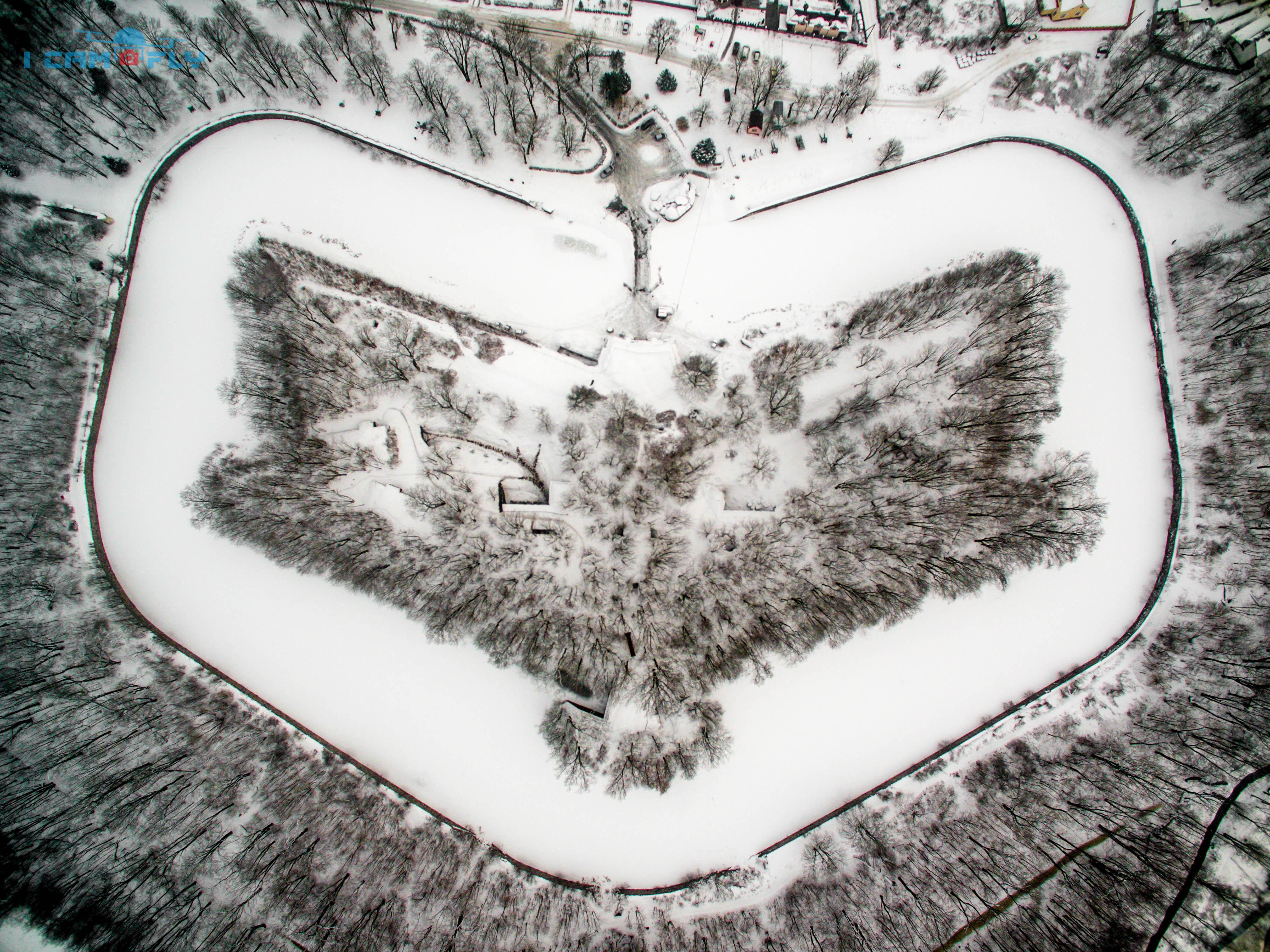 5й форт, зима. Калининград.