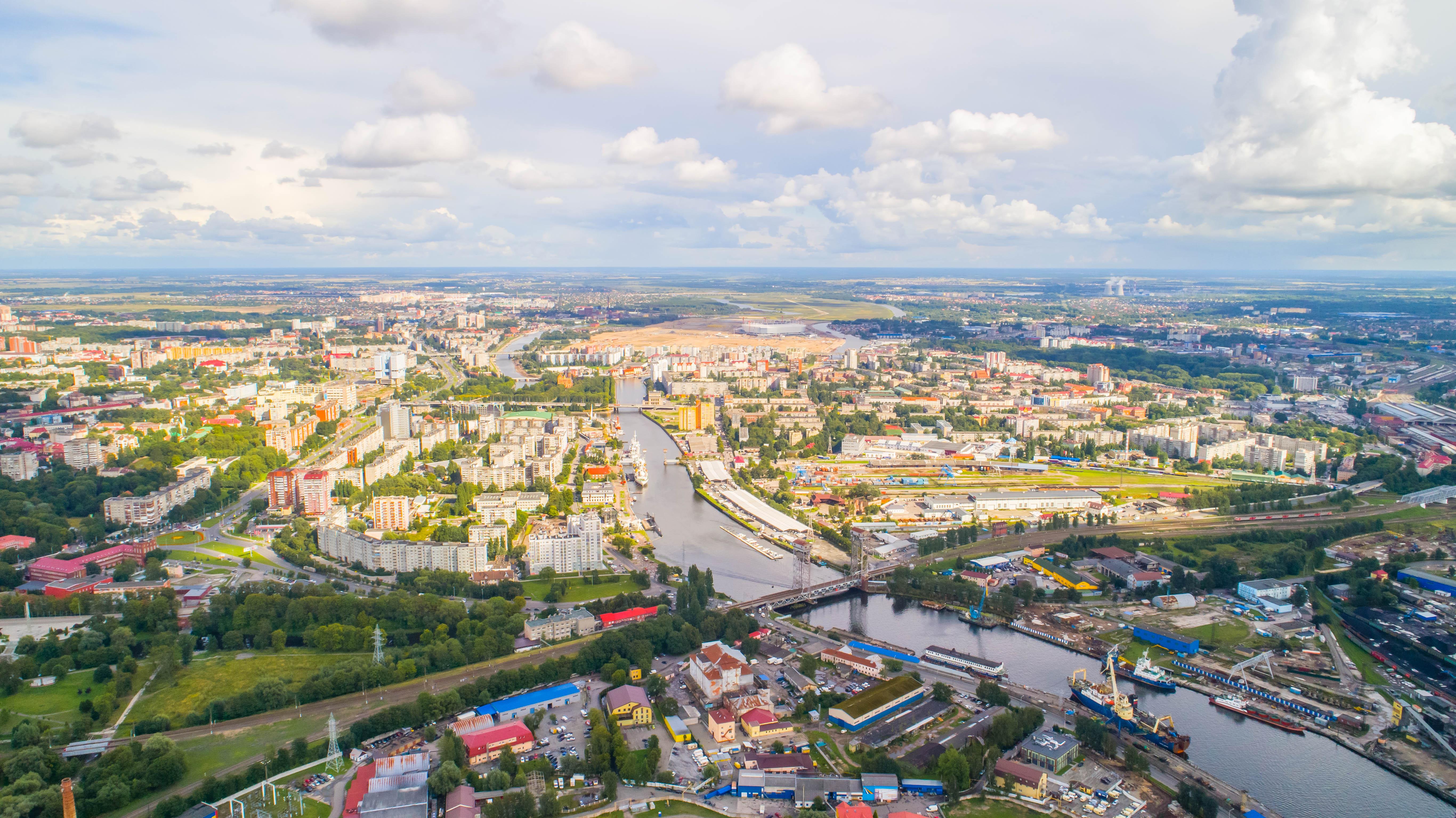 Панорама Калининграда.